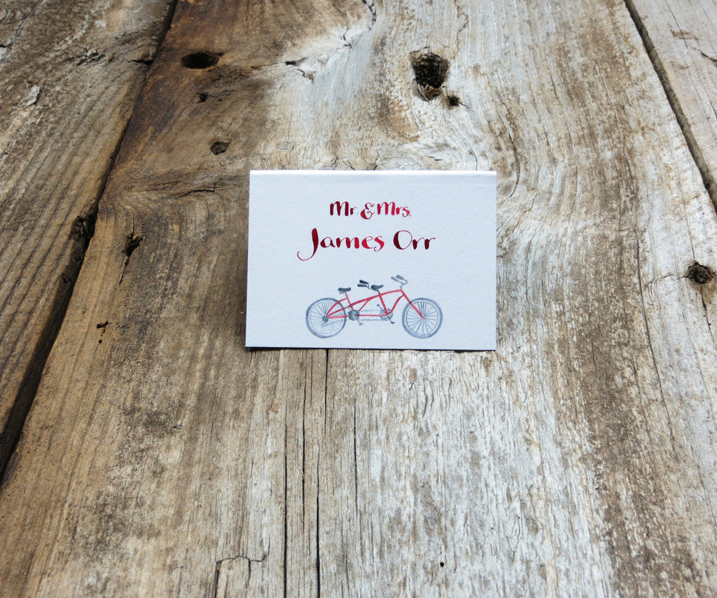 Bike for 2 Escort or Place Card