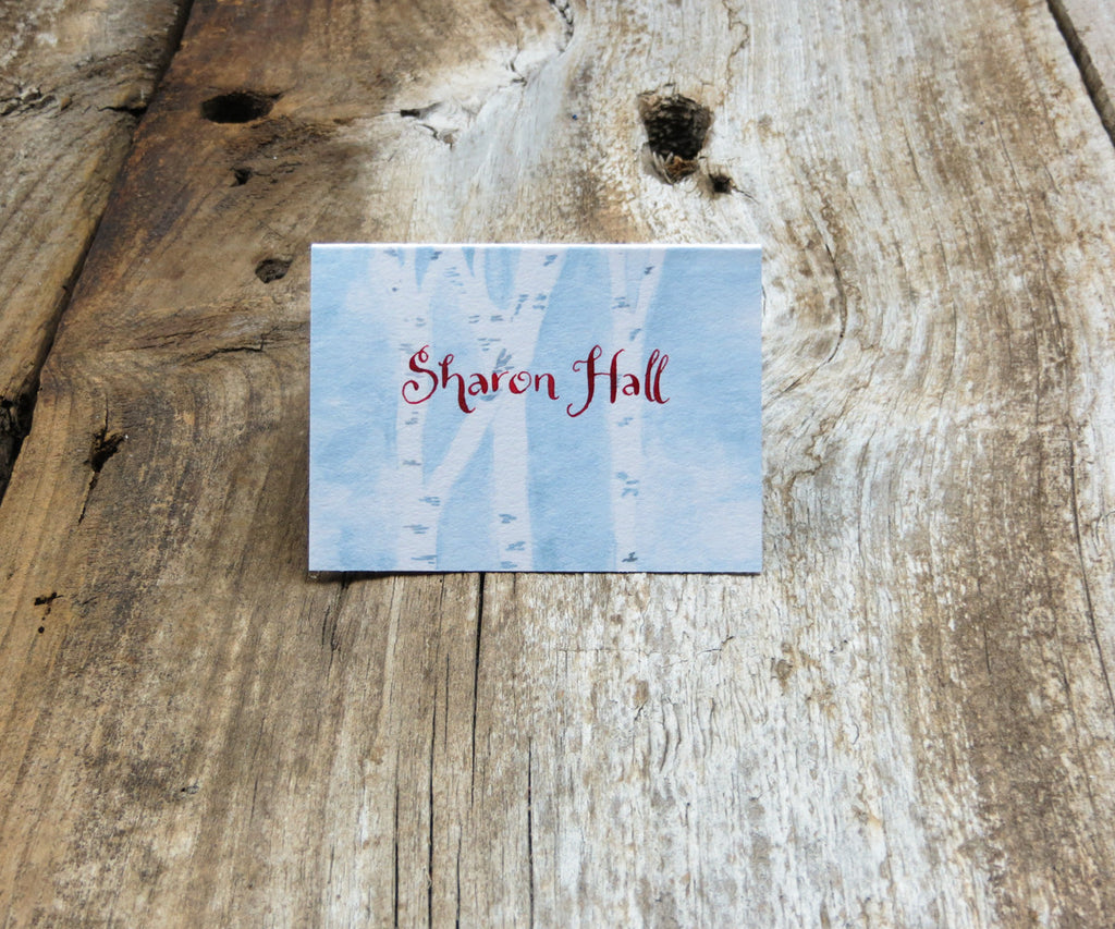 Winter Birches Escort/Place Card