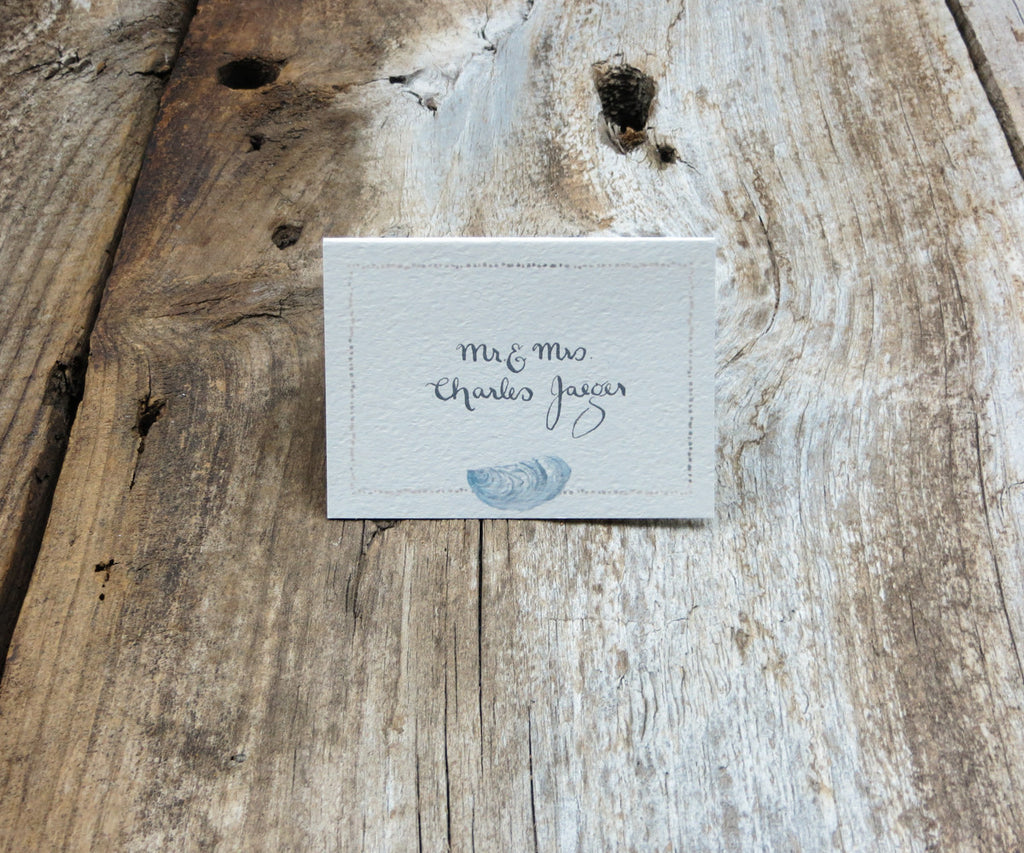 Oyster with Sand Border Escort/Place Card
