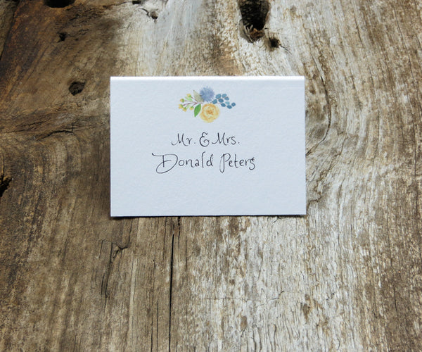Woodland Bouquet Escort/Place Card
