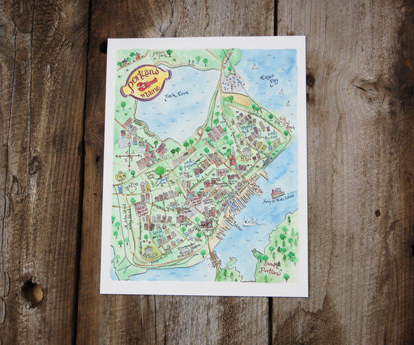 Map of Portland, ME