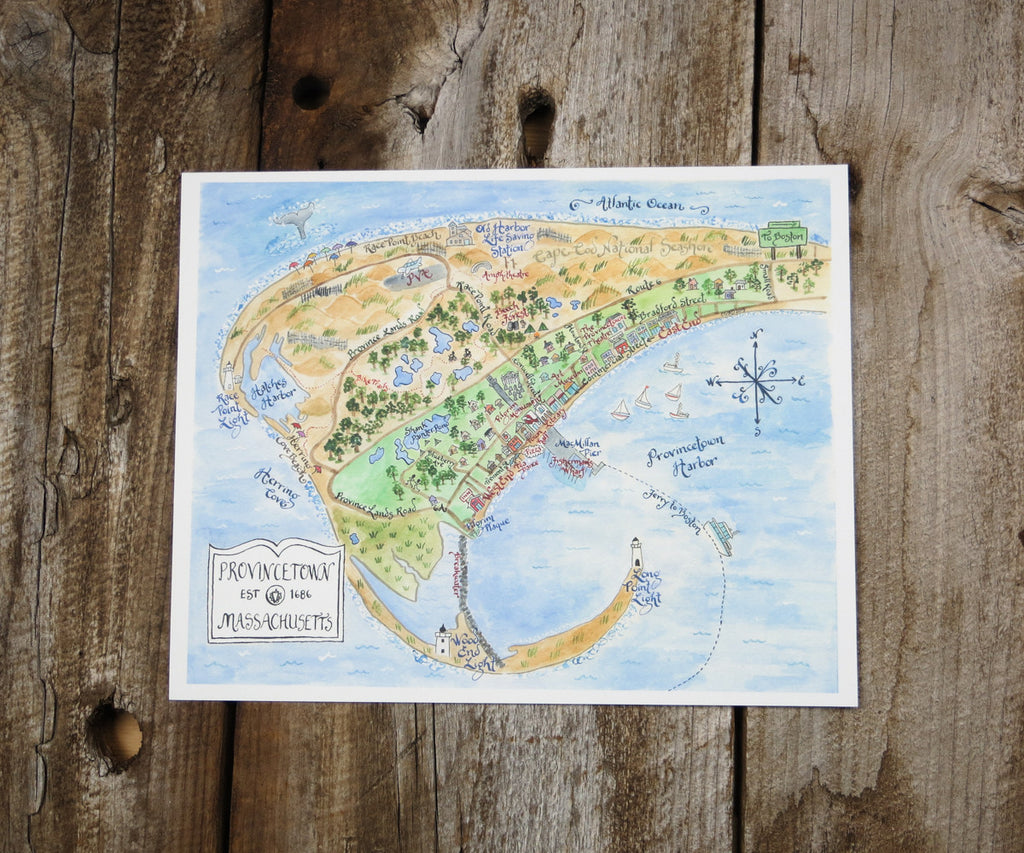 Map of Provincetown, MA