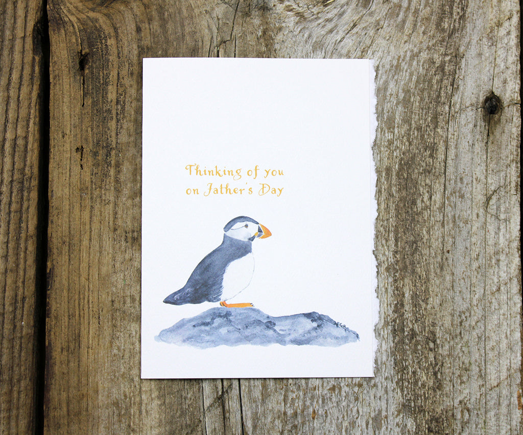 Puffin Father's Day Card