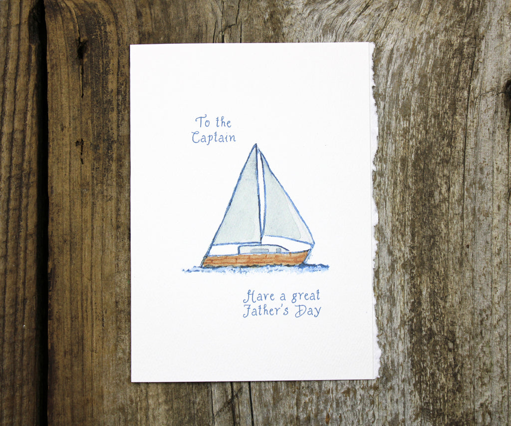 Sailboat Captain Father's Day Card