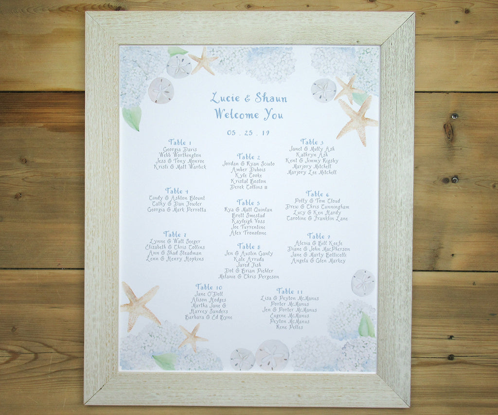 Beach Hydrangea Seating Chart