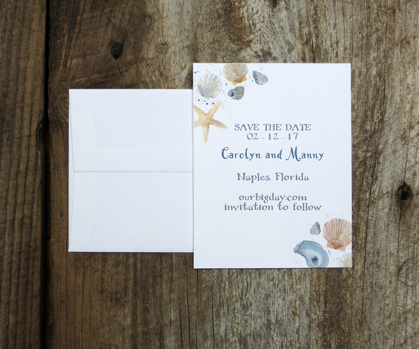 Scallop Shell Save the Date
