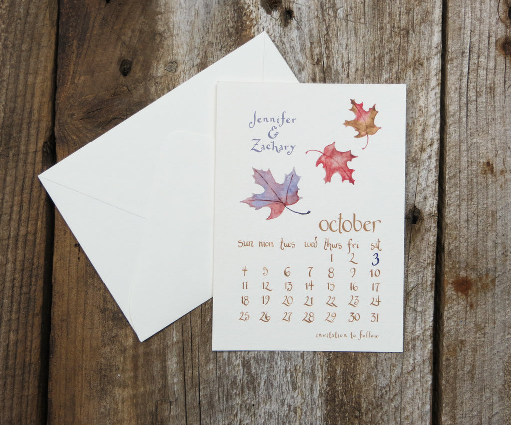 Maple Leaves Save the Date