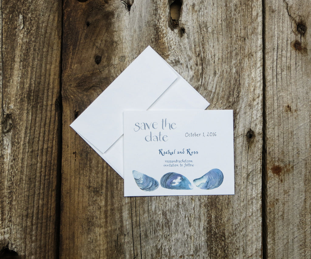 Mussel Shell Save the Date