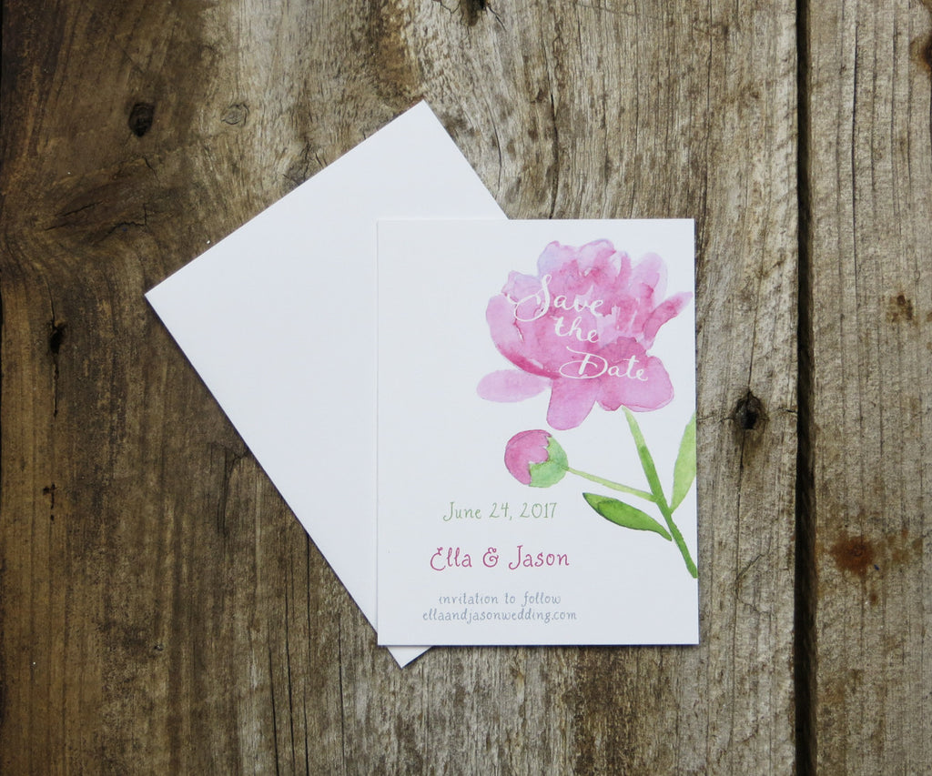 Peonies Save the Date