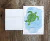 sea turtles note cards