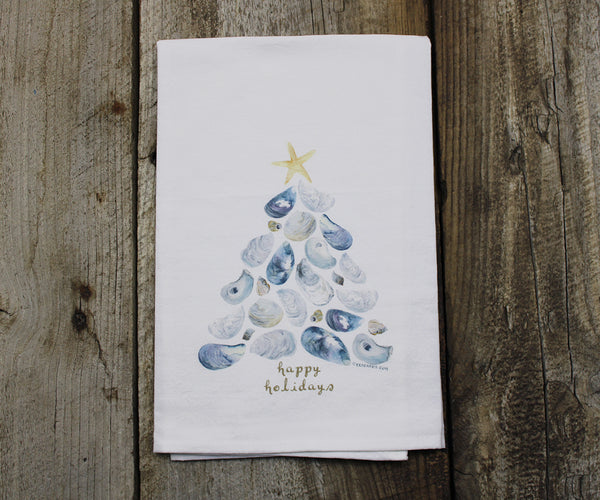 Shell Tree Tea Towel