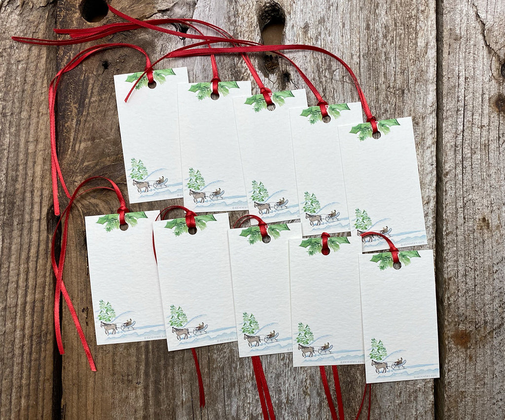 Sleigh Ride gift tags