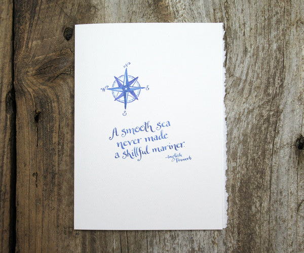 Smooth Sea Quote Card