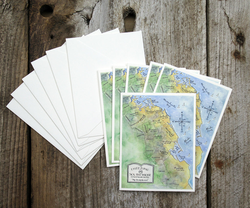 South Shore Massachusetts Note Cards