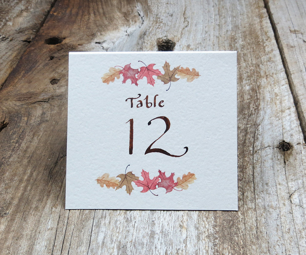 Autumn Trees Table Signs