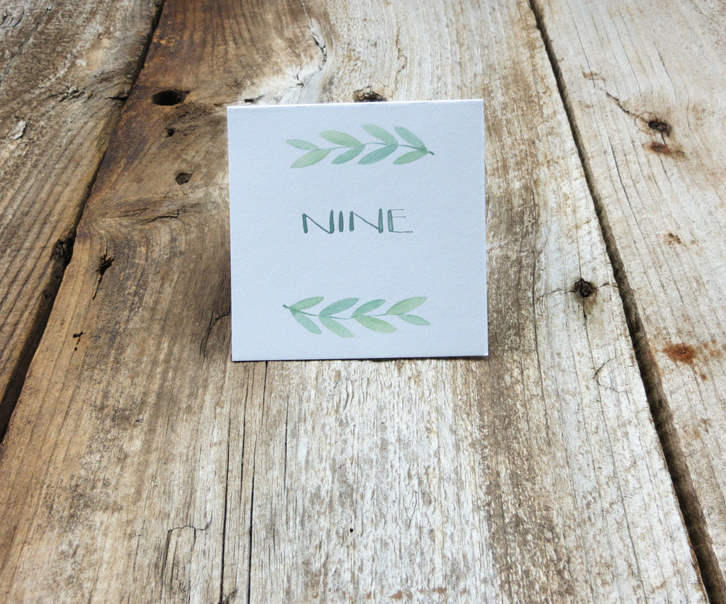 Eucalyptus Monogram Table Signs