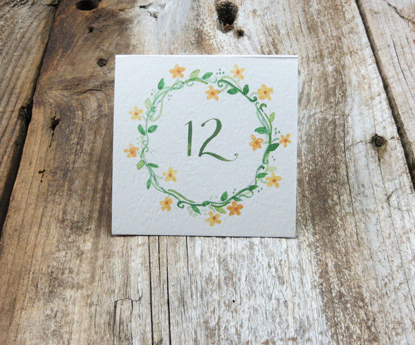Floral Ring Monogram Table Signs