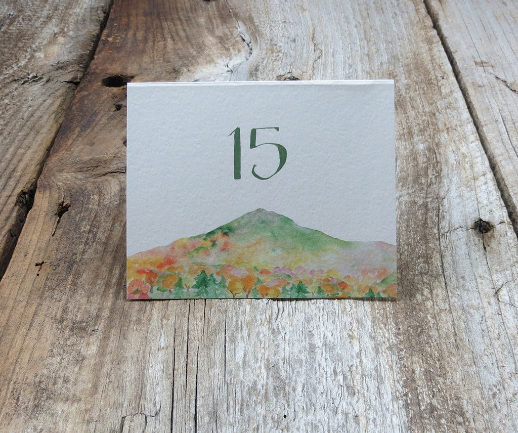 Mountain in Autumn Table Sign