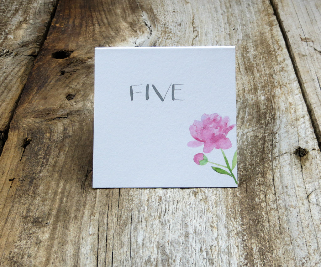 Pretty Peonies Table Signs