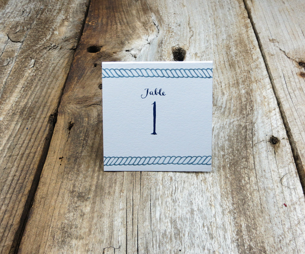 Nautical Rope Table Signs