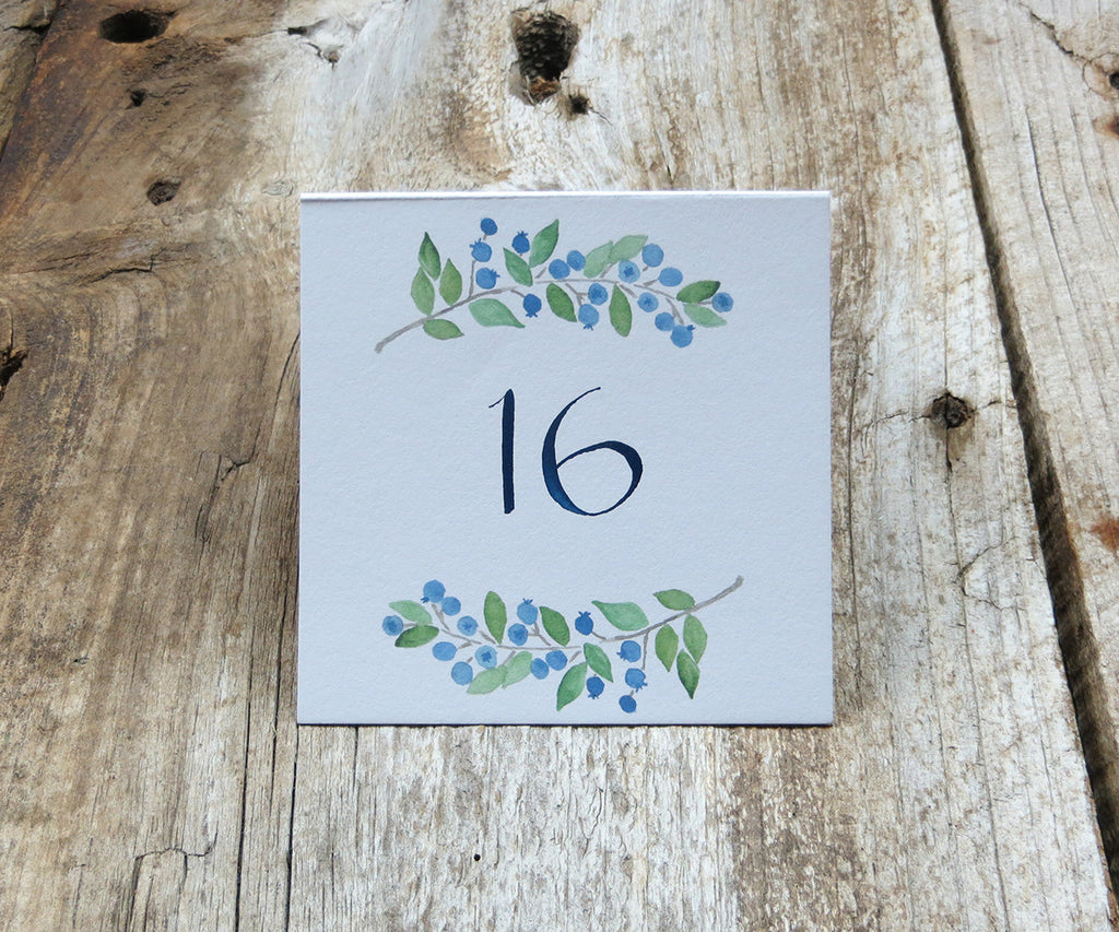 Blueberries Table Sign