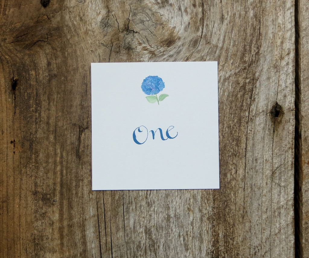 Classic Hydrangea Table Signs