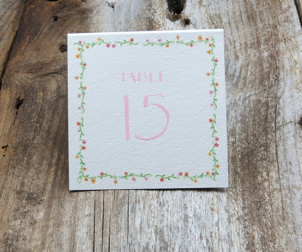 Floral Border Table Signs