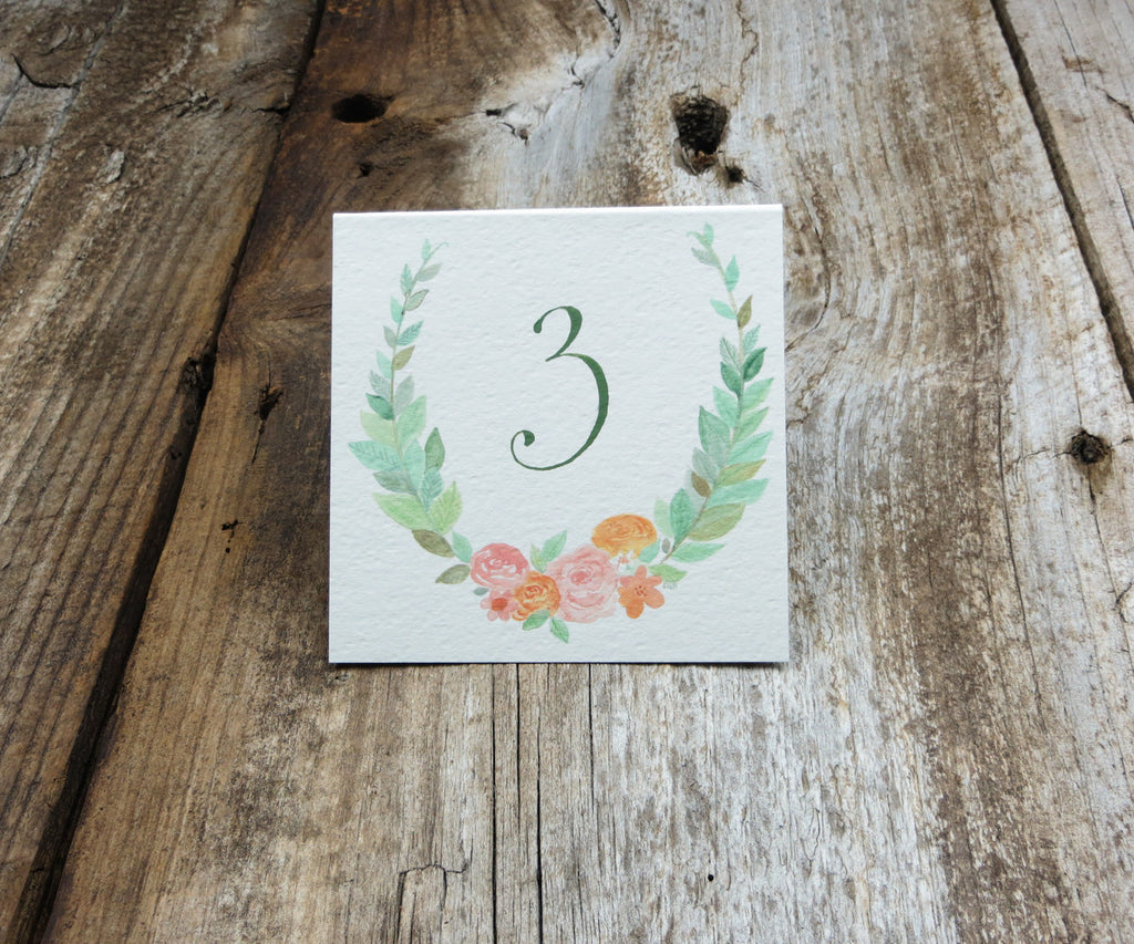 Floral Wreath Table Signs