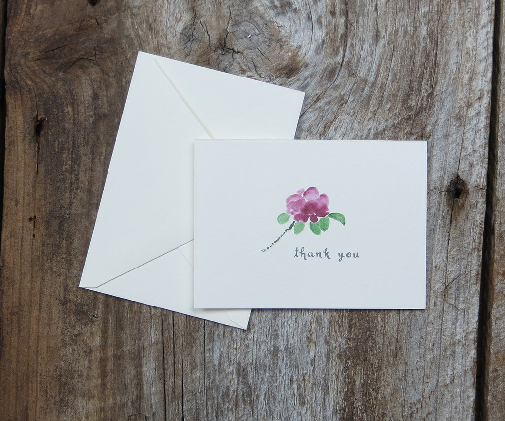 Beach Rose Thank You Notes