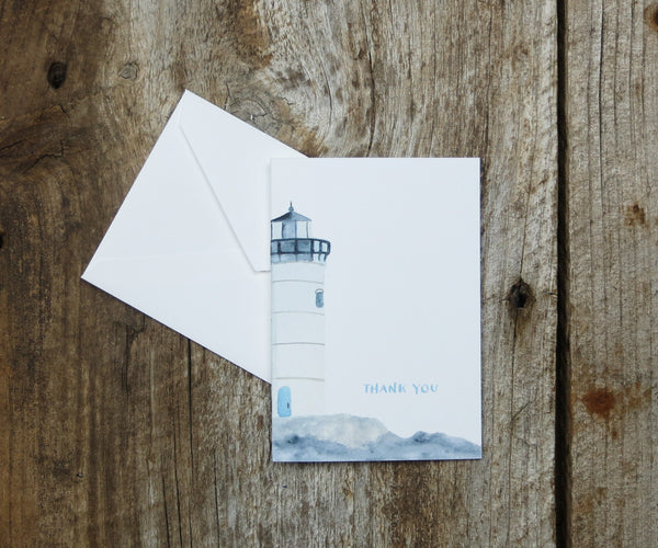 Lighthouse Wedding Thank You Notes
