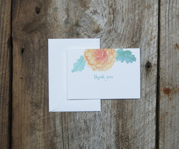 Roses Thank You Notes