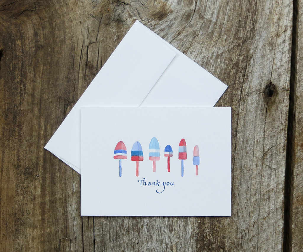 Lobster Buoy Thank You Notes
