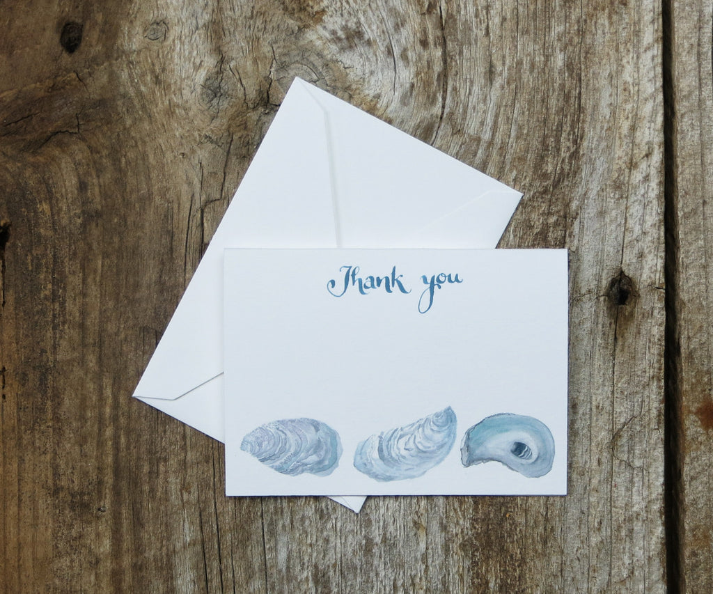 Oyster Shell Thank You Notes