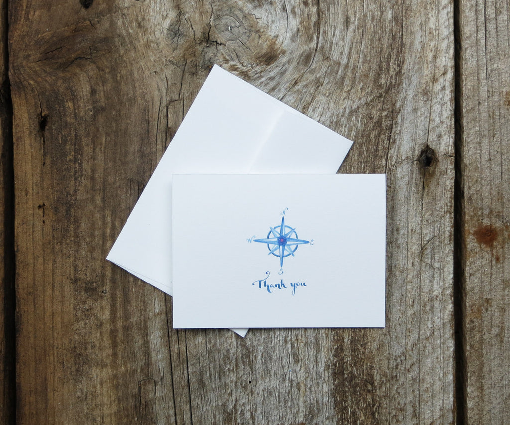 Compass Rose Thank You Notes