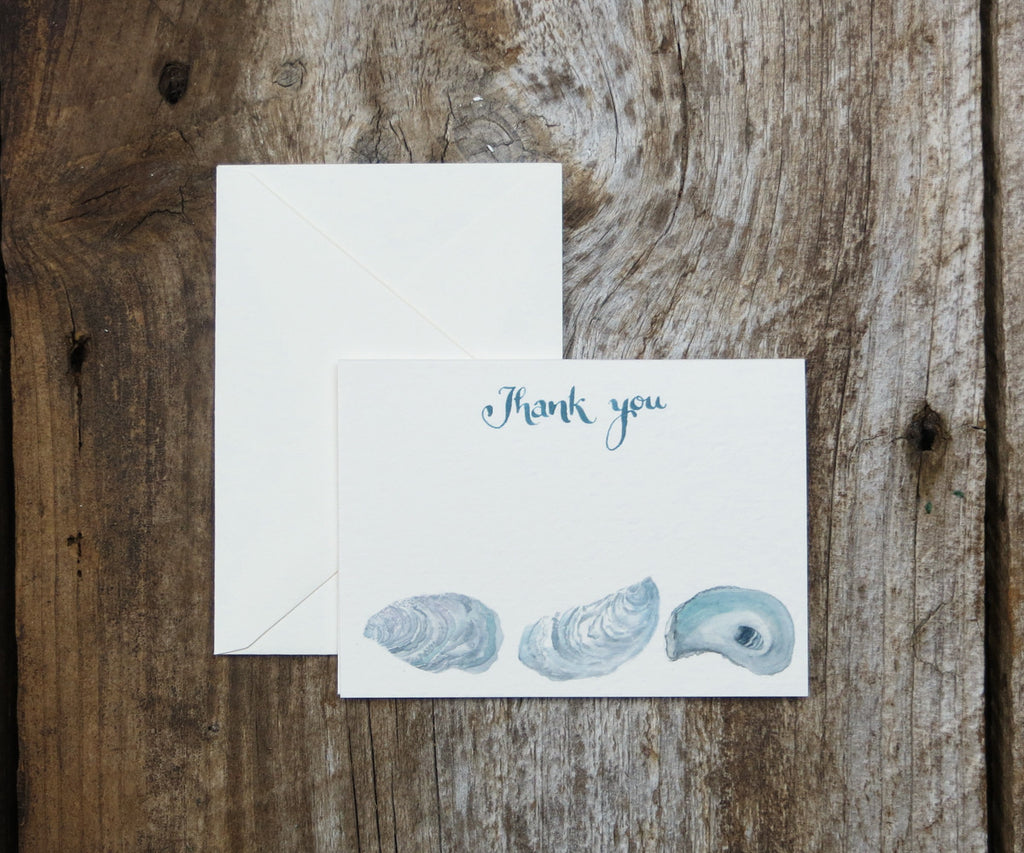 Oyster Thank You Notes