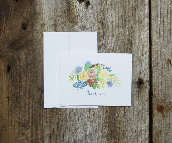 Woodland Bouquet Thank You Notes