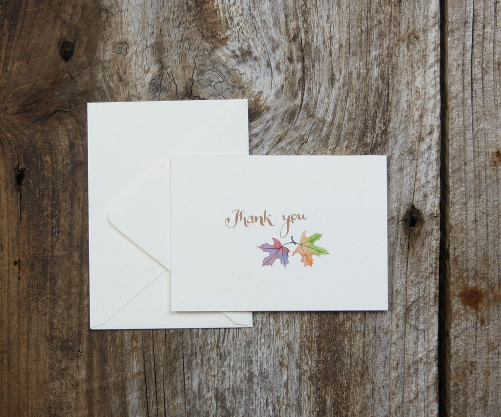 Leaves Thank You Notes