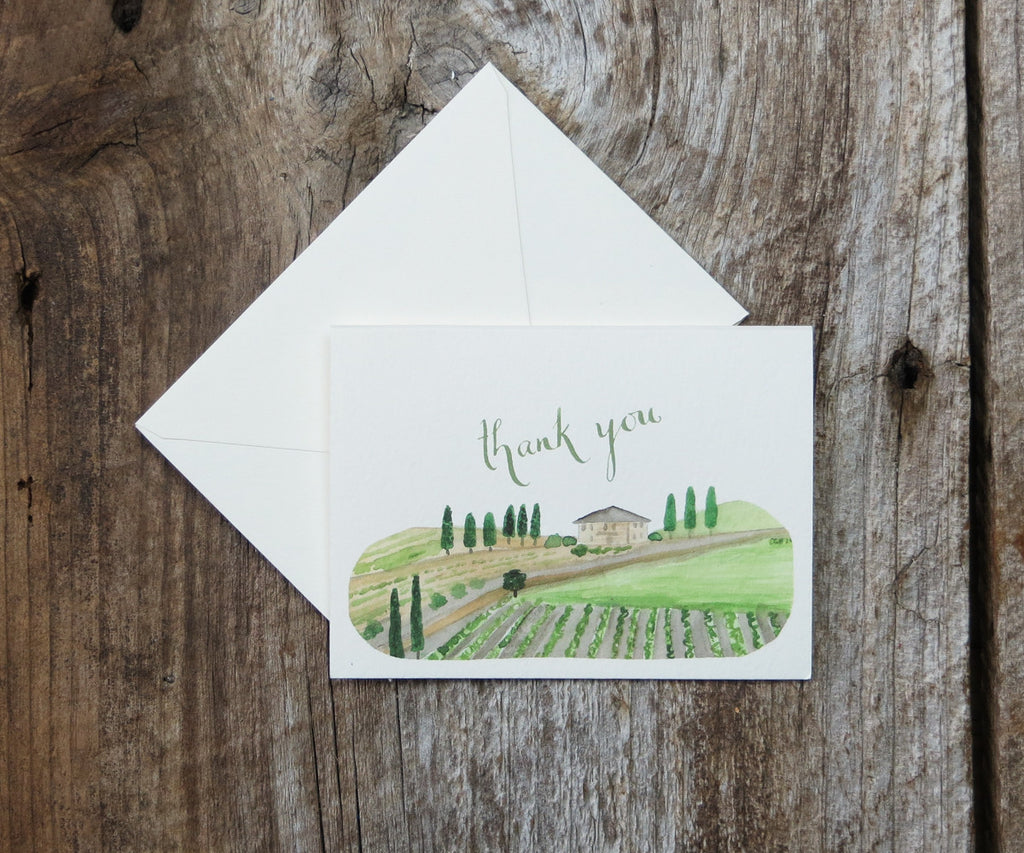 Vineyard Thank You Notes