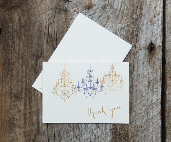 Chandelier Wedding Thank You Notes