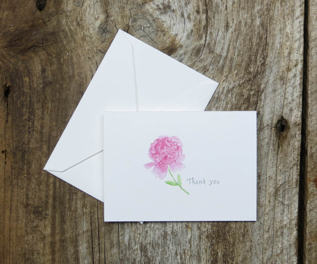 Peonies Thank You Notes