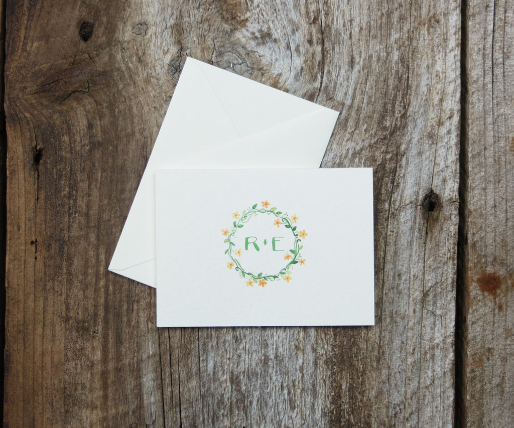Monogram Thank You Notes