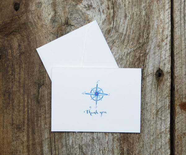 Chic Compass Thank You Notes