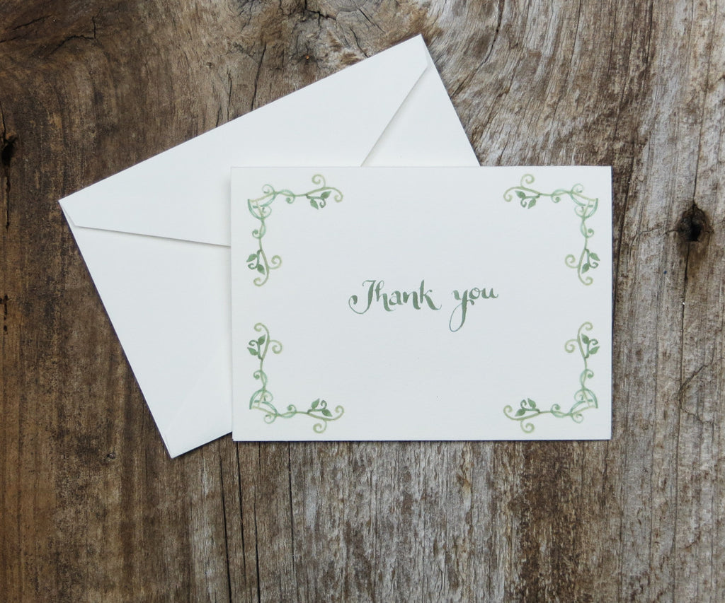 Vines Thank You Notes