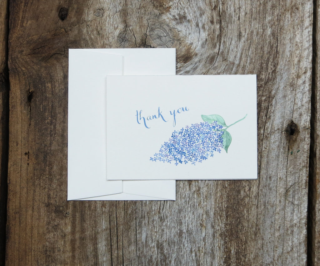 Lilac Thank You Notes