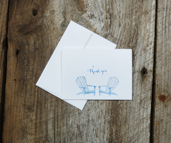 Adirondack Chairs Thank You Note