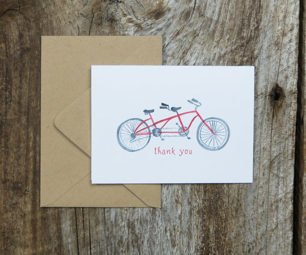 Bike for 2 Thank You Notes