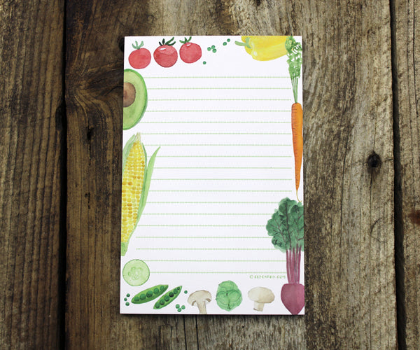Vegetable note pad