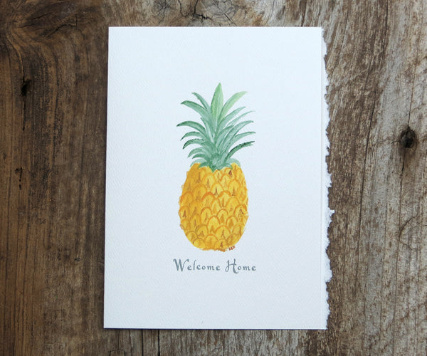 Welcoming Pineapple Card