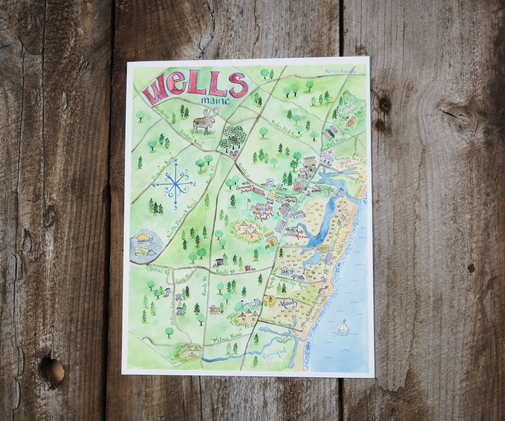 Map of Wells ME