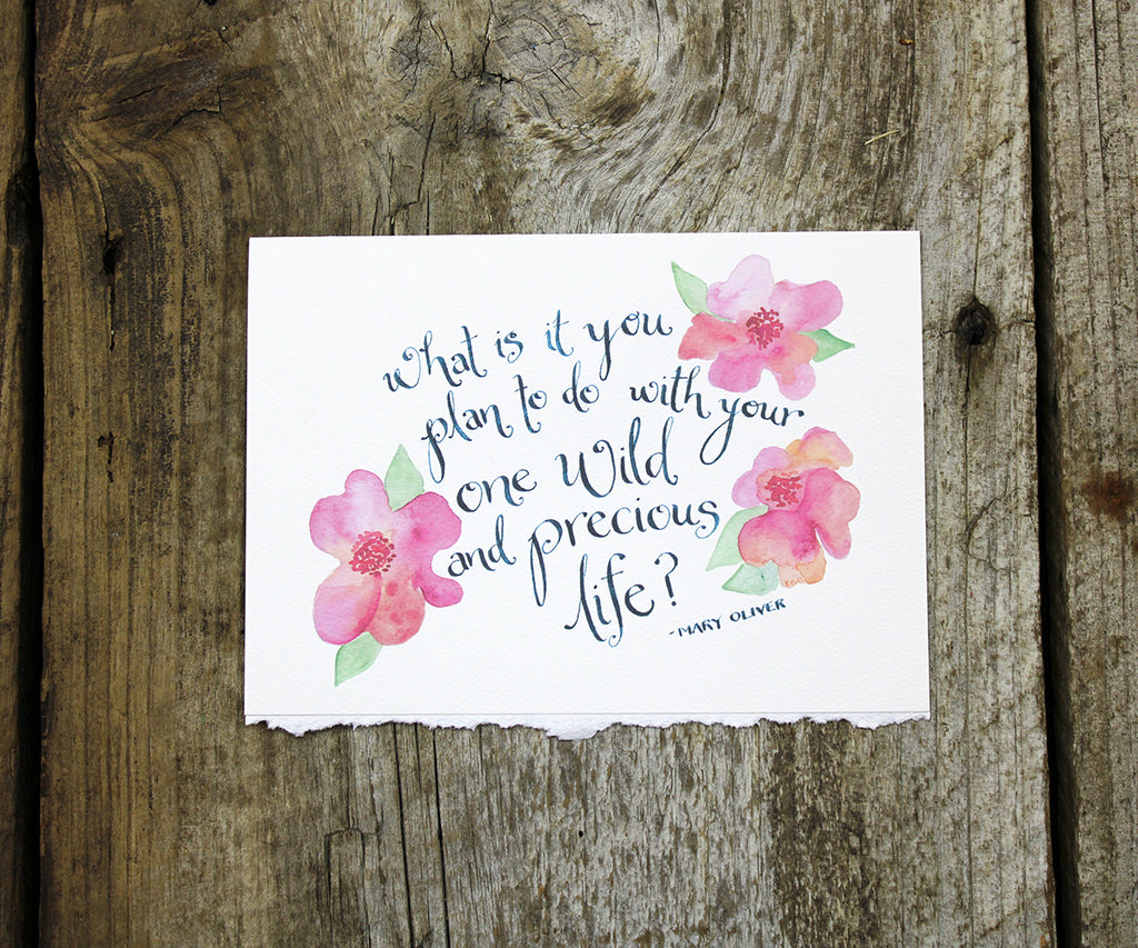 Wild Life Quote Card